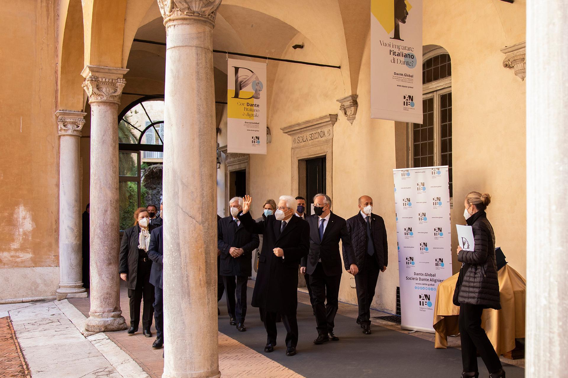 Il Presidente della Repubblica a Palazzo Firenze